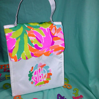 Lilly Pulitzer Lulu scallop Lunch Bag