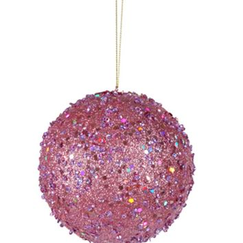 Seasons of Elegance Silver Glitter Tree Christmas Ornament