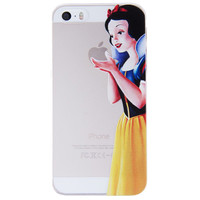 Snow White Holding Logo Clear Transparent Case For Apple Iphone 6/6s