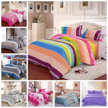 New Fashion Bedding Sets Duvet Cover Comforter Cover Pillowcases Bed Sheet Set Single Double King Size