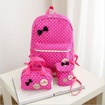 School Backpack Backpack for girls 3 pieces school bags mochilas escolares infantis Backpacks for adolescent girl butterfly children's backpacks AT_48_3