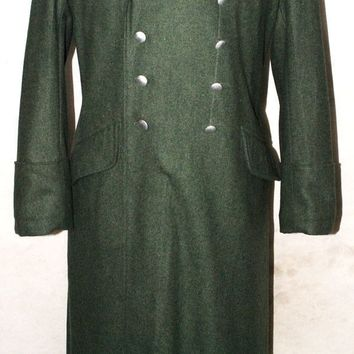 WWII GERMAN WH M36 M1936 FIELD GREY WOOL OVERCOAT GREATCOAT COAT MILITARY UNIFORM- World military Store