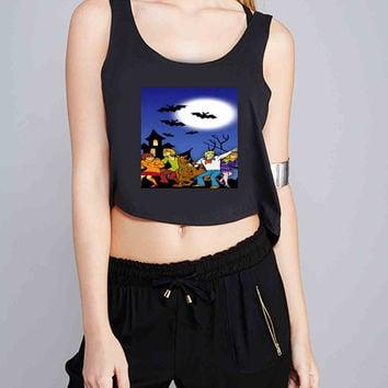 scooby doo and friend for Crop Tank Girls S, M, L, XL, XXL *07*