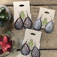 large oval tear drop earrings