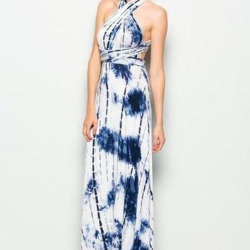 Marilyn Tie-Dye Multi-Way Maxi Dress - FINAL SALE!
