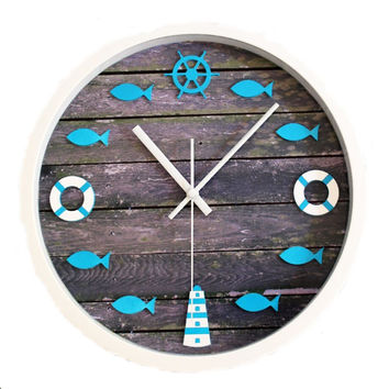 12 Inch Creative Simple DIY Navy Style Wall Clock