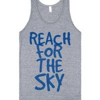 Reach For The Sky-Unisex Athletic Grey Tank