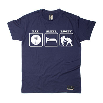 Up And Under Men's Eat Sleep Rugby T-Shirt