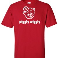 Piggly Wiggly Supermarket Logo Graphic T Shirt - Super Graphic Tees