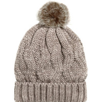 Wool-blend Cable-knit Hat - from H&M