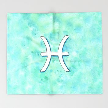 Zodiac sign : Pisces Throw Blanket by Savousepate