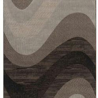 Area Rug - Slate Blue, Espresso Brown, Mushroom Gray, Sand