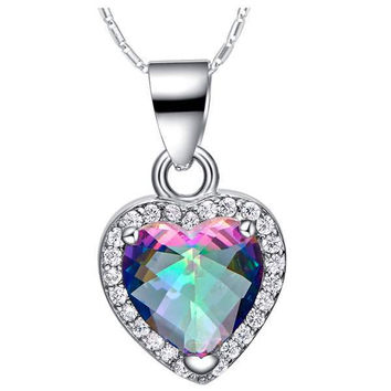 Colorful Multi-color Gemstone Silver 925 Accessories Necklace = 5839594113