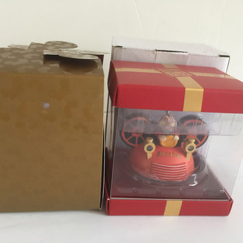 Disney Park Holiday Subscription Mr. Toad Light-Up Ear Hat Ornament New w Box