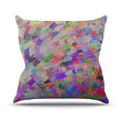 "Marianna Tankelevich ""Abstract"" Rainbow Throw Pillow"