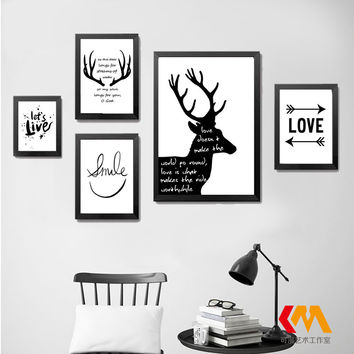Deer Bible Verse Motivational Canvas Poster