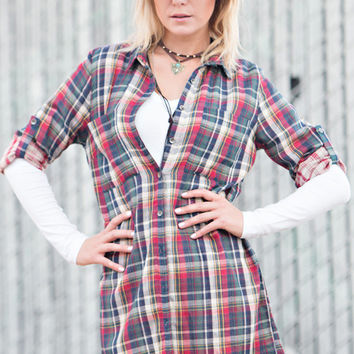 Country Girl Red Plaid Top