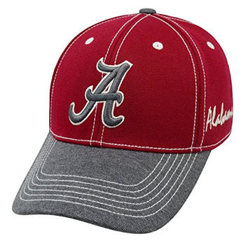 "Alabama Crimson Tide NCAA Top of the World ""High Post"" Memory Fit Flex Hat"