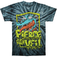 Pierce The Veil Men's  Gator Black Tie Dye T-shirt Multi