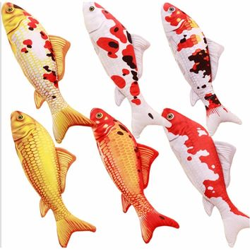 2017 Cute imitation koi carp pillow Plush toy pet fish doll cushions pillow can be washed Style Random 16cm,30cm Option