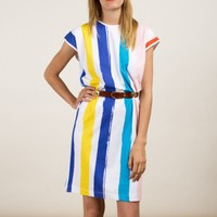 David-T Dress Color Stripes