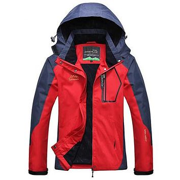 Women Outdoor Softshell Jackets Spring Autumn Waterproof Hiking Coats Windbreaker Thermal Sports Jackets For Camping Ski