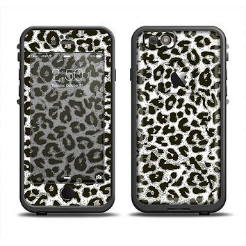 The Neutral Cheetah Print Vector V3 Skin Set for the Apple iPhone 6 LifeProof Fre Case