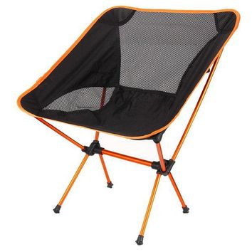 ONETOW 4 Colors Lightweight Fishing Chair Professional Folding Camping Stool Seat Chair Portable Fishing Chair For Picnic Beach Party