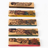 5 packs of LION ROLLING CIRCUS papers – Unbleached 1.1/4 | 50 sheets per booklet