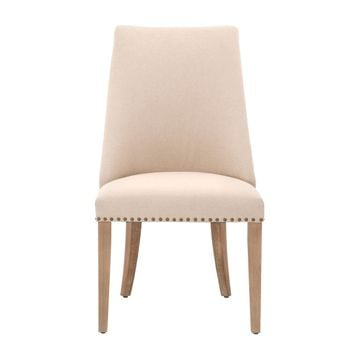 Park Dining Chair Natural Linen and Stone Wash