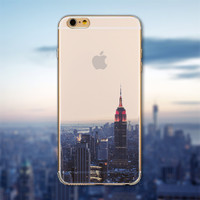 Urban City Skyline Phone Case Cover for iPhone 6 6s | 6s Plus Transparent Soft Silicone Back Case Cover *Free Shipping*
