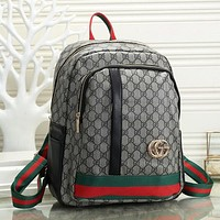 Fashion Leather Backpack Bookbag Rucksack