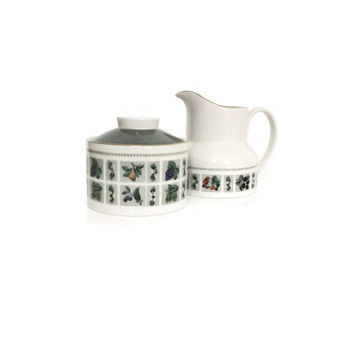 Royal Doulton China, Creamer Set, Fine Bone China, Made in England, Royal Doulton, Tapestry, English Bone China
