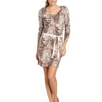 Amazon.com: Calvin Klein Jeans Women's Snakeskin Print Sweater Dress: Clothing