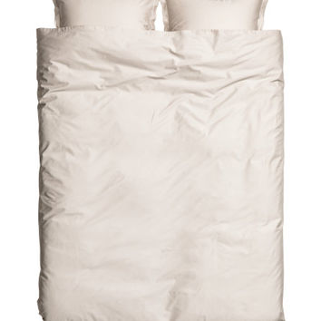 Washed Satin Duvet Cover Set - from H&M