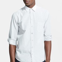 Men's rag & bone 'Dune' Microstripe Dress Shirt with Contrast Collar