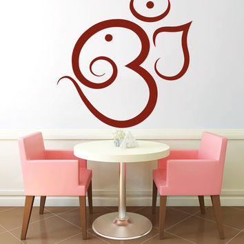 Om Or Aum Sacral Sound Vinyl Decals Wall Sticker Art Design Living Room Cafe Modern Bedroom Nice Picture Home Decor Hall Interior ki678