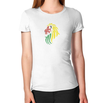 Lion Reggae Music Flag Colors Women's T-Shirt