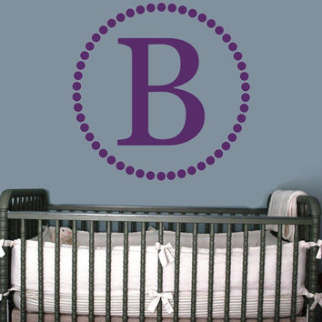 Nursery Monogram Initial Wall Decal