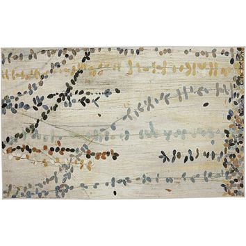 Mohawk Home Trailing Vines Abstract Floral Rug (Beige/Khaki)