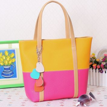 Candy Colored Leather Shoulder Bag
