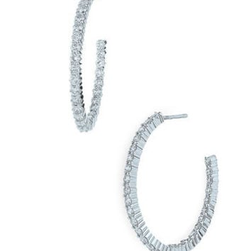'Inside Out' Diamond Hoop Earrings