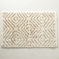 Diamond Tufts Bathmat by Anthropologie in Sand Size: One Size Bath