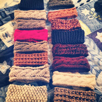 Tan Cable Knit Headband