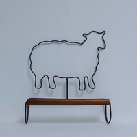 Sheep Towel Rack, Black Metal, Wire Art, Country Kitchen, Black Sheep Rack, Metal Towel Holder, Kitchen Towel Rack, Farmhouse Decor