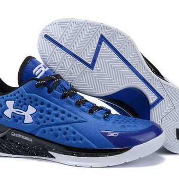 qiyif Men's Under Armor Curry 1 Low-Cup Basketball Shoes Blue 40-46