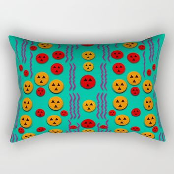 Pumkins dancing in the season pop art Rectangular Pillow by Pepita Selles
