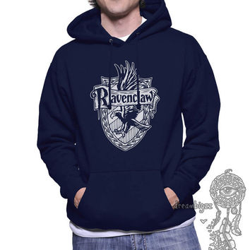 2ce653935f6 Ravenclaw Crest  2 One Color printed on Unisex Hoodie