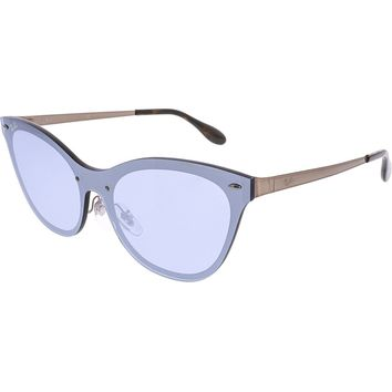 Ray Ban Blaze Cateye RB 3580N 90391U Bronze / Violet Mirror Sunglasses NIB