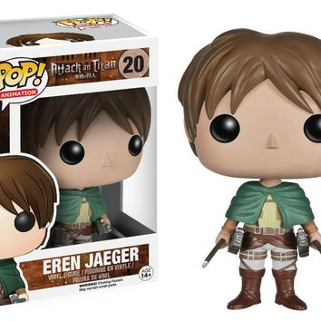 Funko Pop Animation: Attack on Titan - Eren Jaeger Vinyl Figure